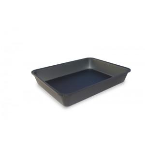 Plexi tray GN1/5 40 DARK SMOKE - 265x200x40mm